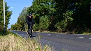 Stephan Loyen auf den letzten Kilometern