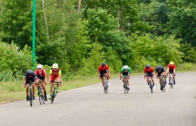 Zielsprint mit Bernhard Walterscheid-Müller, Cycling Club Düsseldorf